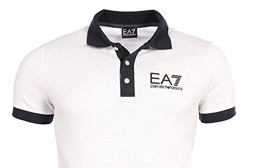 EA7 Herren Poloshirt weiß weiß