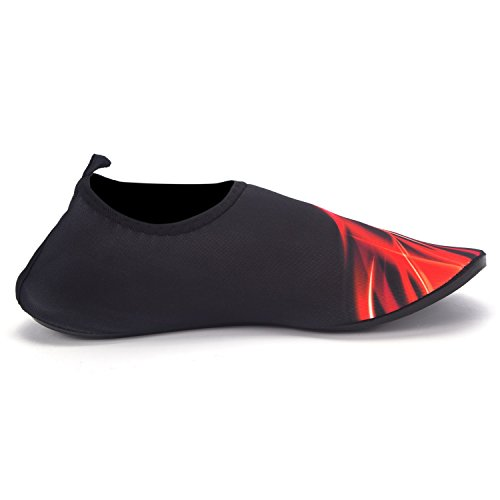 FLORATA A Pair Of Quick Drying Slip Yoga Surfing Climbing Barefoot Water Shoes for Unisex outdoor shoes Black Red-03 xIYxGOS