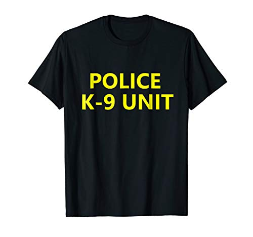 Halloween Police K-9 Unit Shirt Costume Officer Dog Canine -