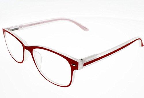 I NEED YOU Fashion Reading Glasses Red For Men & Women - Full Rim Eyewear Designer Eyeglasses & High-Quality Plastic Eyeglass Frames - Power +2.5