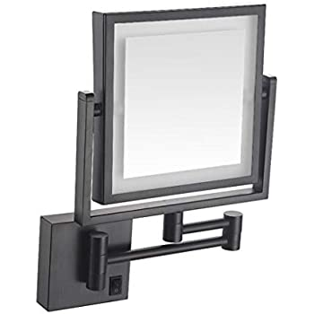 Amazon Com Alwud Led Makeup Vanity Mirrors Square Double
