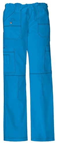 Dickies Women's Tall Youtility Drawstring Cargo Pant_Riviera Blue_Small,857455T