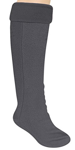 Capelli New York Fleece With Spandex Tall Rain Boot Liner Androgynous Grey (Capelli Fleece)