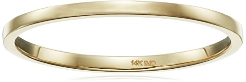 14k Yellow Gold 1.3mm Stackable Ring, Size 7 14k Yellow Gold Stackable