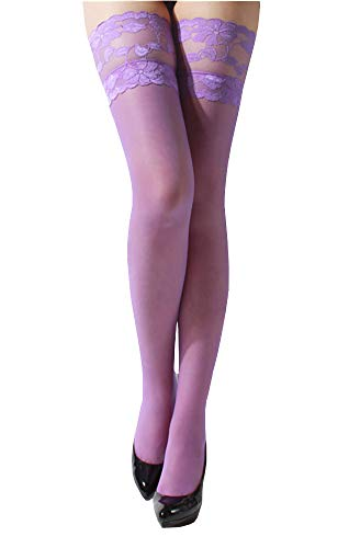 ONEFIT Women's Sexy Thigh High Lace Top Stay Up Stockings Nylons