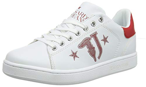 With Sneaker R150 Stripped Stars Sneakers 0t40f red Logo Trussardi Donna Printed Jeans Rosso 7Yva6xwqnI