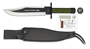 Cuchillo Supervivencia Dark Forest 21,7 para Caza, Pesca, Camping, Outdoor, Supervivencia y Bushcraft Albainox 32395