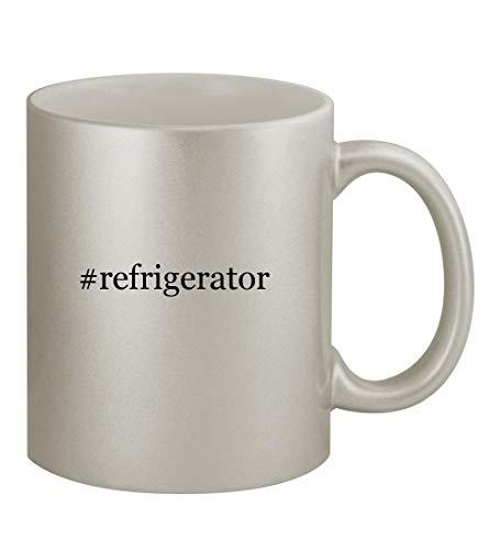 #refrigerator - 11oz Hashtag Silver Sturdy Ceramic Coffee Cup Mug ()