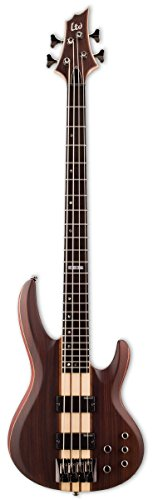 ESP LTD B-4E Bass Guitar, Natural Satin