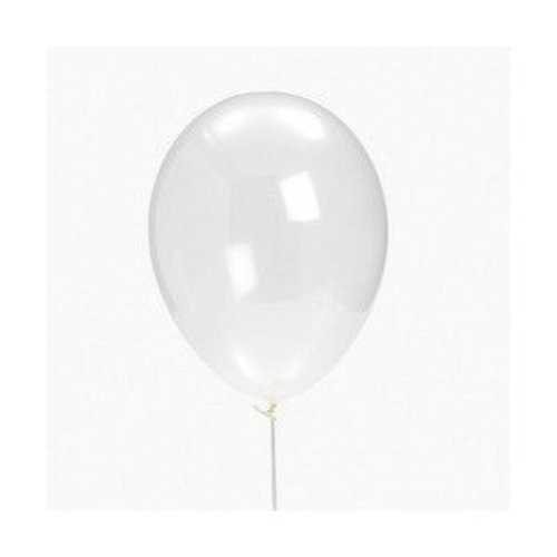 Diamond Clear Latex Balloons (48 - 11 Clear Balloons Latex Inch Diamond