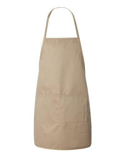 Tan Apron - Liberty Bags Heather Long Apron (Tan) (ALL)