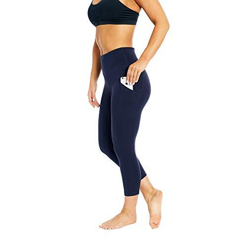 Women's Activewear Control Top Leggings | Designer Quality High Waist Yoga Pants with Tummy Control & Pocket | 22