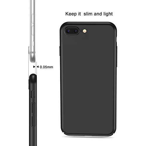 iPhone 7 Plus Case, iPhone 8 Plus Case, TORRAS Slim Fit Shell Hard Plastic Full Protective Anti-Scratch Resistant Cover Case for Apple iPhone 7 Plus (2016) / iPhone 8 Plus (2017)-Space Black
