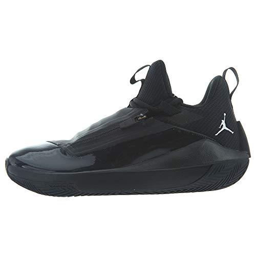 Nike Jordan Jumpman Hustle AQ0397-001 Synthetic Mesh Mens Trainers - Black White - 44.5