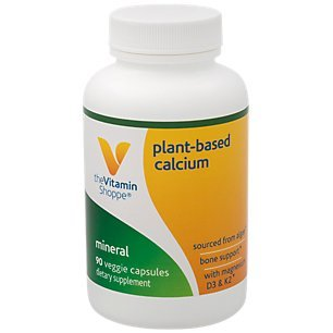 The Vitamin Shoppe PlantBased Algae Calcium Bone Formula with Magnesium, D3, K2 for Bone Support (90 Veggie Capsules)