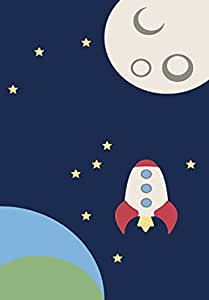 LEO RUGS astronomy Kids Rug Design Kids5 - 75x115cm
