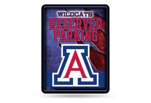 (NCAA Arizona Wildcats 8-inch by 11-inch Metal Parking Sign Décor)