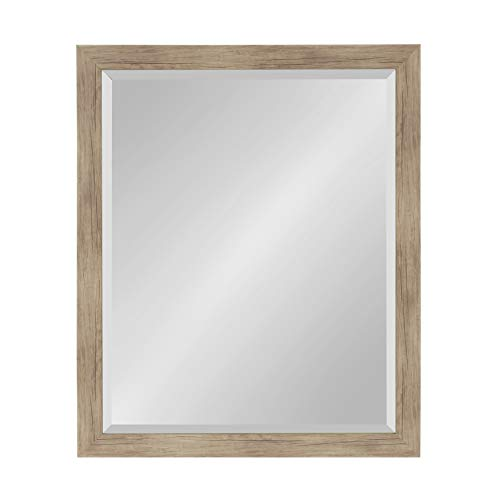 DesignOvation Beatrice Framed Wall Mirror, 25x31, Rustic -