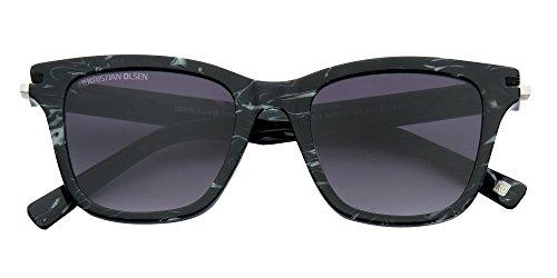 Polarisées Femme Etui Noir UV Unisex KOD Soleil et Lunettes Blanc 400 Marbre amp; de Modèle Vintage Chiffon Homme Neo avec vfSqRaW