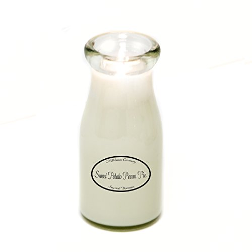 Milkhouse Creamery Soy Beeswax Scented Candle - Sweet Potato Pecan Pie (8 Oz Milk Bottle) (Pecan Toasted Pie)