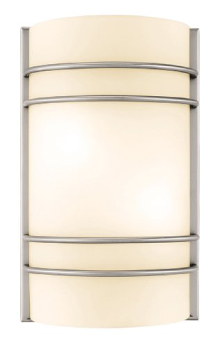 Access Steel Shade (Access Lighting 20416-BS/OPL Artemis ADA Linear Wall Sconce, Brushed Steel Finish with Opal Glass Shade)