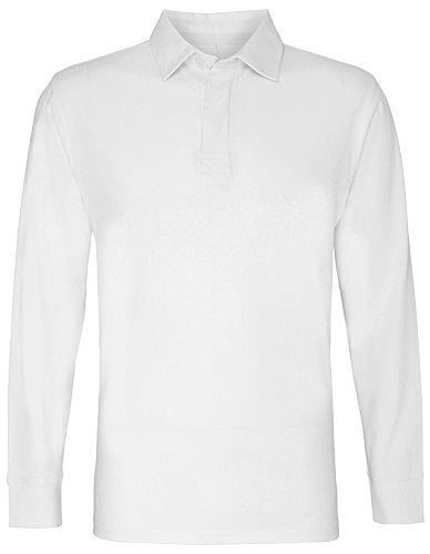 Asquith & Fox Mens Classic Fit Long Sleeve Vintage Rugby Shirt (2XL) (White)