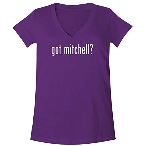got Mitchell? - A Soft & Comfortable Women's V-Neck T-Shirt, Purple, Medium