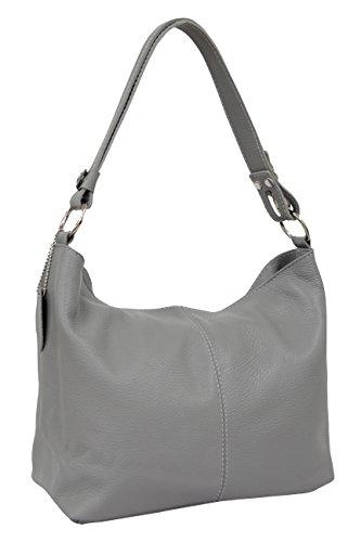 Man Gl005 For Leather Fashion Bag Ambra Hobo Gray Style Woman wRqIHpB