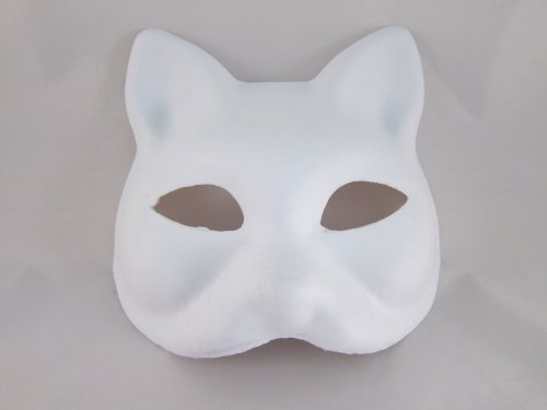 Nakimo Fox Mask DIY Paintable Cosplay Accessories Mask for sale  Delivered anywhere in USA