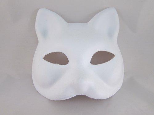 VANVENE Hope You're Painting Fun Tick Nick Everyone! Set of 5 / Costume Fancy Dress Cosplay Tool DIY Handmade mask mask mask Summer Festival White Fox Mask Deals