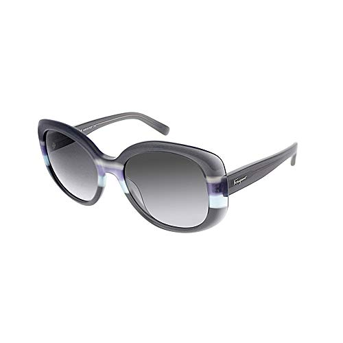 Salvatore Ferragamo Womens UV Protection Gradiant Round Sunglasses Gray O/S -