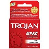 Bundle Package Of Trojan regular 1 - 3 pack And a Bottle of 1.7 -oz Personal Silicone Lubricant