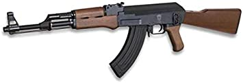 AK-47 Kalashnikov ELECTRICA Arma Larga Airsoft Aire Suave 6 mm Potencia 0,50 Julios Airsoft Paintball Caza Supervivencia bushcraft Camping Outdoor Golden Eagle 35987 + Portabotellas de regalo