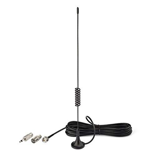 Bingfu Magnetic Base FM Antenna for Denon Pioneer Onkyo Yamaha Marantz Sherwood Bose Wave Music System Indoor Digital HD Radio FM Radio Bluetooth Stereo Receiver AV Audio Vedio Home Theater Receiver