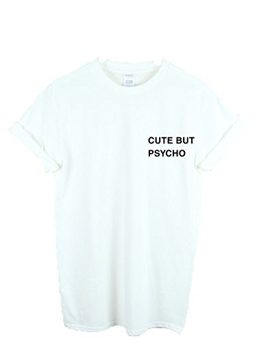 tasca Nuovo TUMBLR Fashion Hipster But White Top Unisex Hate T Shirt Love Psycho Cute rZZIPq6