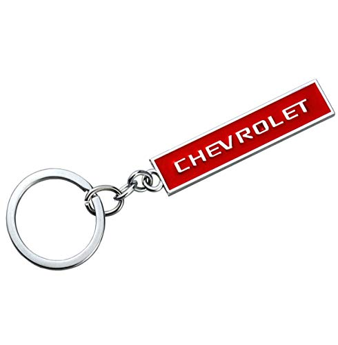 - Aimoll car Logo Key Chain Chrome Finished Aluminum Key-Ring for Chevrolet (Red)