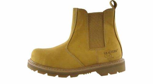 Grafters - Calzado de protección de cuero para mujer PENDING Beige - Honey Nubuck