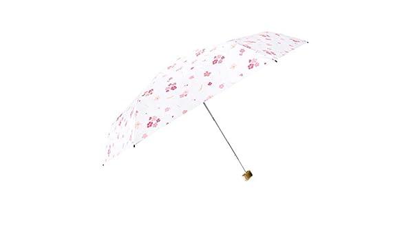 EFKKLM Sakura Paraguas Lluvia Mujer Mini Paraguas Paraguas UV ...