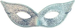 Lame Harlequin Mask - Morris Harlequin Mask Lame (Silver;One Size)