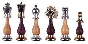 The Gold Chess Set in Metal Plated Finishes & Smooth Maple Wood by Cambor Games