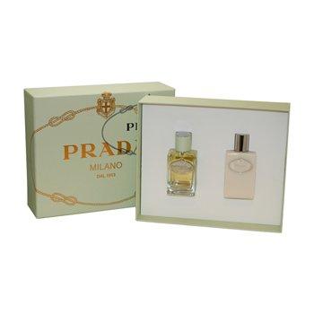(Prada Milano Infusion D'Iris by Prada 2 Pc Set - 1.7oz EDP Spray & 3.4oz Hydrating Body Lotion For Women)