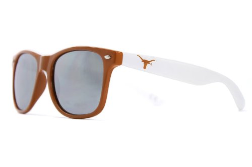 Society43 NCAA Texas Longhorns TEX-3 Burnt Orange Front Temple, Silver Lens Sunglasses, One Size, Burnt by Society43