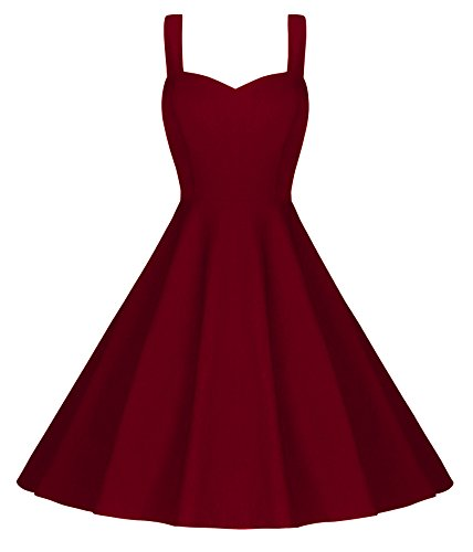 Dear-Queen Fashion Women's Vintage Cocktail Retro Swing Rockabilly Ball Gown Dress (Prom Queen Fancy Dress)