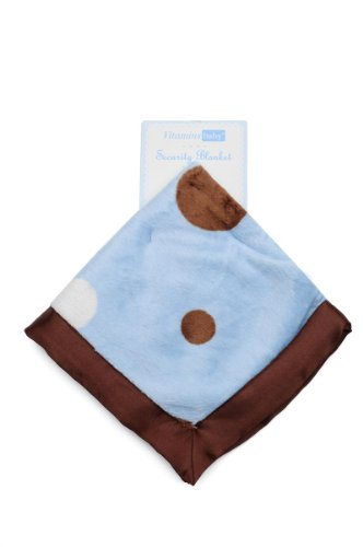 Vitamins - Baby Security Blanket - Playful Polka Dots
