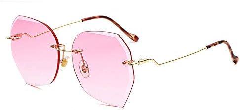 Ou lida Lunettes de soleil polygonales sans cadre de mode hommes et femmes lunettes de soleil lunettes de soleil