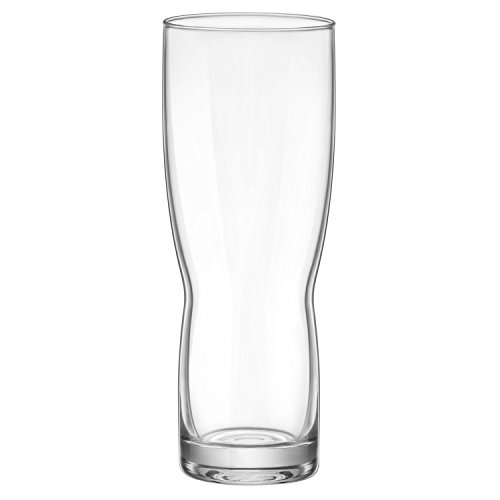 - Bormioli Rocco New Pilsner Beer Glass 14.25 oz, Set of 6, Clear