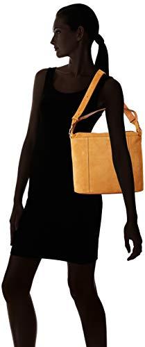 Cm X De Mujer Bolso w Cruzados Le Tanneur cognac Cuero H L G02 Marrón Tela1421 12x28x30 Para q7wn6TxI