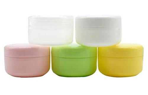 6PCS 100ml 3.5oz Empty Plastic Face Cream Eye Shadow Jar Con
