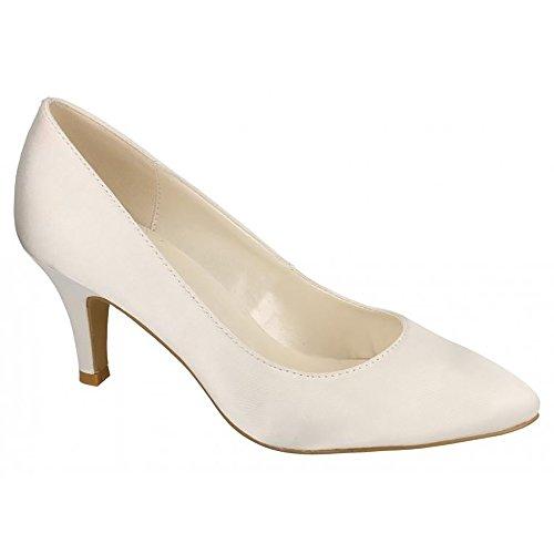De Para Mujer Novia Zapatos Michelle Tacón Marfil Anne wqR8v7
