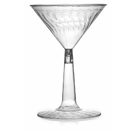 Fineline Settings Flairware Clear  6 oz. Two Piece Martini Glass  144 Pieces